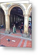Music Echoes Under The Arches Greeting Card