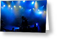 Music In Blue - Montreal Jazz Festival Greeting Card