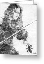 Music In My Soul Black And White Greeting Card