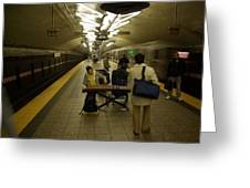Music In New York Subway Greeting Card