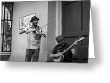 Music In The French Quarter Greeting Card