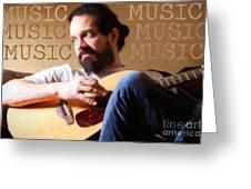 Music Man Greeting Card