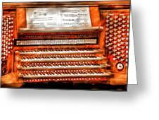 Music - Organist - The Pipe Organ Greeting Card by Mike Savad