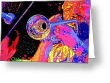 Music Out Of Metal V Greeting Card