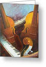 Music Relief Greeting Card by Paula Marsh