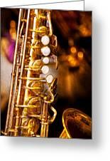 Music - Sax - Sweet Jazz  Greeting Card by Mike Savad