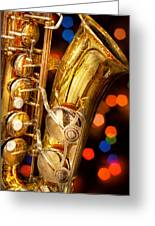 Music - Sax - Very Saxxy Greeting Card