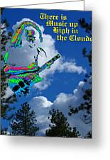 Music Up In The Clouds Again Greeting Card