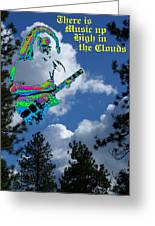 Music Up In The Clouds Greeting Card