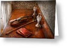 Music - Violin - A Sound Investment  Greeting Card