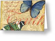 Musical Butterflies 3 Greeting Card