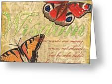 Musical Butterflies 4 Greeting Card
