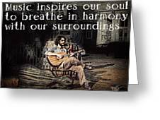 Musical Inspiration Greeting Card