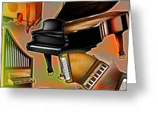 Musical Instruments With Keyboards Greeting Card