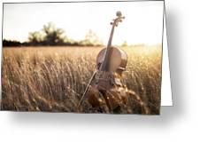 Musical Sunset Greeting Card