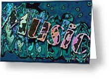 Musicblue Greeting Card