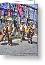 Musicians La Bufadora Greeting Card