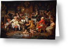 Musicians Of The Old School Greeting Card