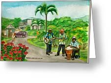 Musicians On Island Of Grenada Greeting Card