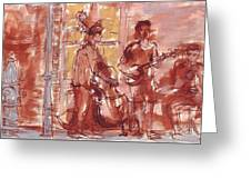 Musicians On Royal Street New Orleans Greeting Card