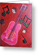 Musique Rouge Greeting Card