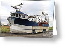Mussel Boat Greeting Card