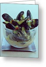Mussels In Broth Greeting Card