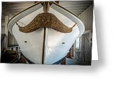 Mustache Boat Greeting Card