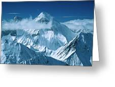 Mustagh Tower At Center And Masherbrum Greeting Card