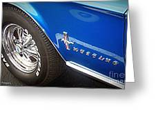 Mustang Blue Greeting Card
