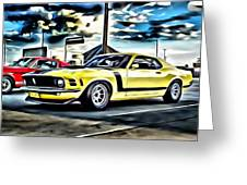 Mustang Boss 302 Greeting Card