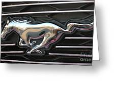 Mustang Emblem Greeting Card