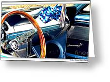 Mustang Interior Greeting Card