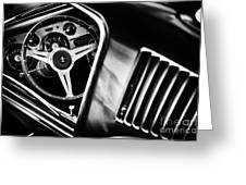 Mustang Interior Monochrome Greeting Card