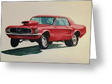 Mustang Launch Greeting Card