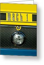 Mustang Mach 1 Emblem 2 Greeting Card