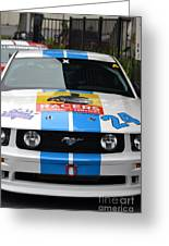 Mustang Race Car Greeting Card