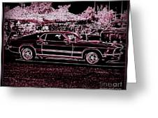 Mustang Rose Greeting Card