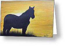 Mustang Silhouette Greeting Card