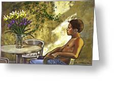 Mustapha's Garden Greeting Card