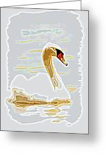 Mute Swan - Different Greeting Card