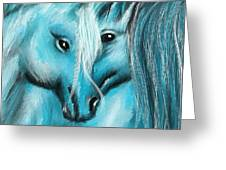 Mutual Companions- Fine Art Horse Artwork Greeting Card