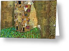 My Acrylic Painting As An Interpretation Of The Famous Artwork Of Gustav Klimt The Kiss - Yakubovich Greeting Card