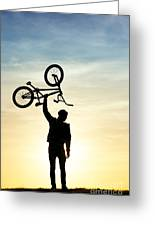 Bmx Biking Greeting Card by Tim Gainey