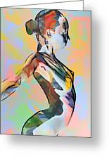My Colorful Ballerina  Greeting Card