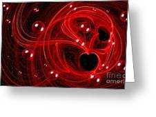 My Cosmic Valentine Greeting Card by Peggy Hughes