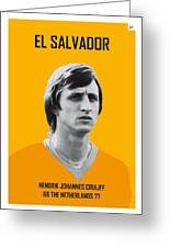My Cruijff Soccer Legend Poster Greeting Card