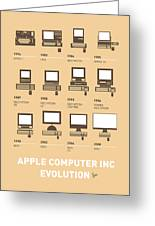 My Evolution Apple Mac Minimal Poster Greeting Card by Chungkong Art