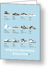 My Evolution Sneaker Minimal Poster Greeting Card by Chungkong Art