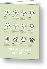My Evolution Soccer Ball Minimal Poster Greeting Card by Chungkong Art